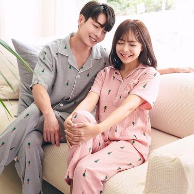 미니당근 반팔 긴바지 커플 잠옷세트 이지웨어 홈웨어