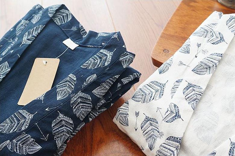 나뭇잎 유카타 투피스 잠옷세트 이지웨어 홈웨어 - 로로걸, 19,900원, 잠옷, 여성파자마
