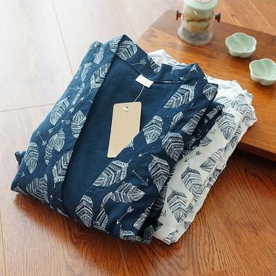 나뭇잎 유카타 투피스 잠옷세트 이지웨어 홈웨어