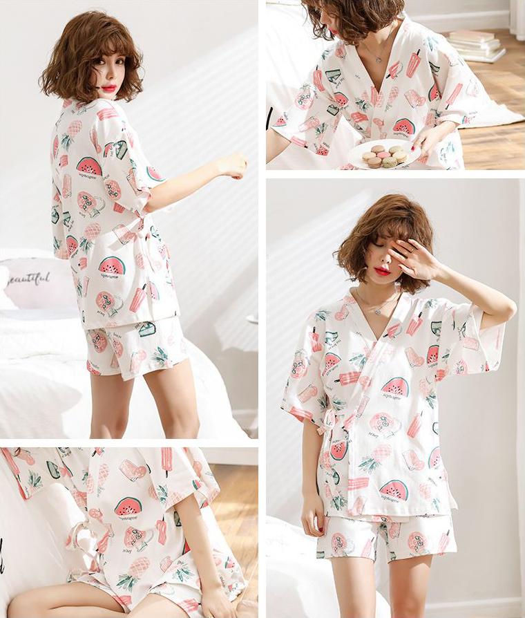 여름과일 유카타 잠옷세트 이지웨어 홈웨어 - 로로걸, 19,900원, 잠옷, 여성파자마