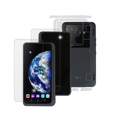 LG V50S ThinQ 듀얼스크린 고광택강화 액정+후면+전신외부보호필름 각 2매