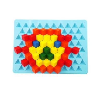 (가베가족)KS3704 피라미드판(3D가베활용판)