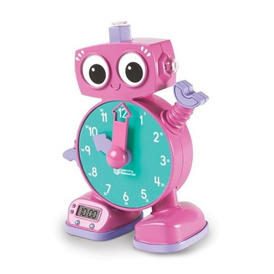 (러닝리소스)LER2385-P 말하는 로봇시계 톡 핑크
