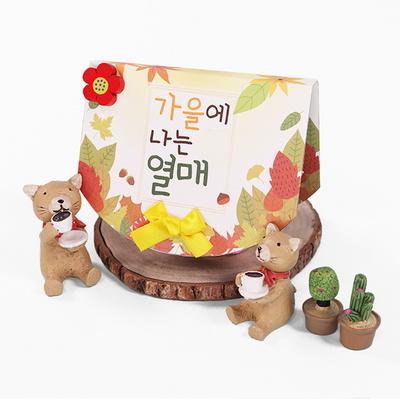 (몽스쿨) KY2078-4 가을열매 북아트(4개)