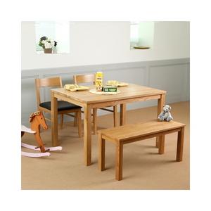 베이직 1200 오크 원목 테이블 4인용 식탁