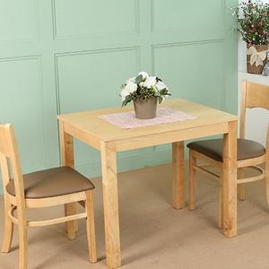 네이쳐 2인용 원목 식탁 세트 (원목의자 2개포함)