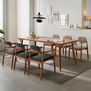 리치 6-8인용 원목 식탁테이블 2000세트(의자포함)