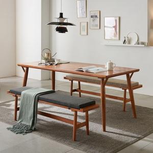 리치 6-8인용 원목 식탁테이블 2000세트(벤치포함)