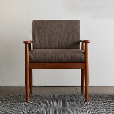 리치 원목 패브릭 1인용 쇼파 의자 (베이지)