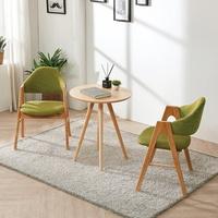 스칸디안 카페 테이블 세트 (의자 2개 포함)