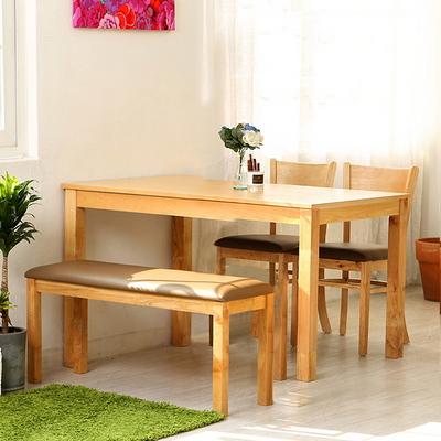 모쿠 4인 원목식탁 세트 (의자 4개 포함)