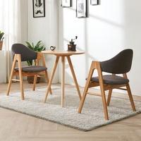 스칸디안  카페 원형 티테이블 세트-다크블루 (의자 2개 포함)