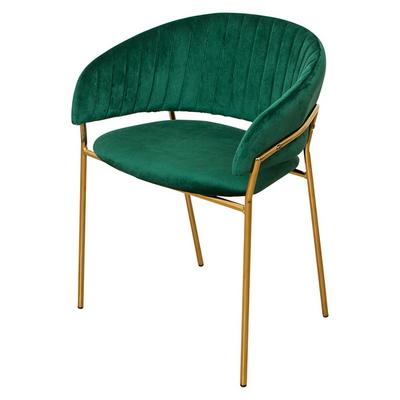 마르코 벨벳 골드 철제 의자