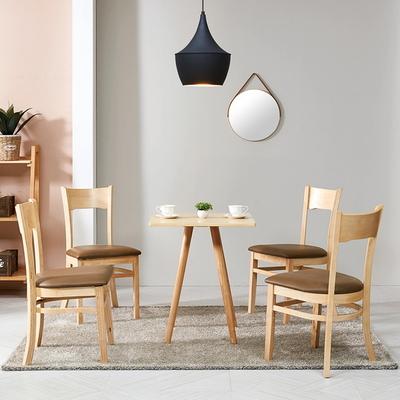 브라우니 2-4인 사각 식탁 티테이블 세트(의자 2개)