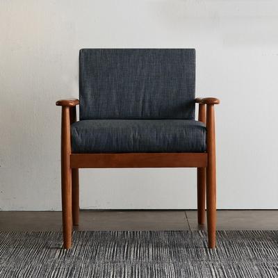 리치 원목 패브릭 1인용 쇼파 의자 (챠콜)