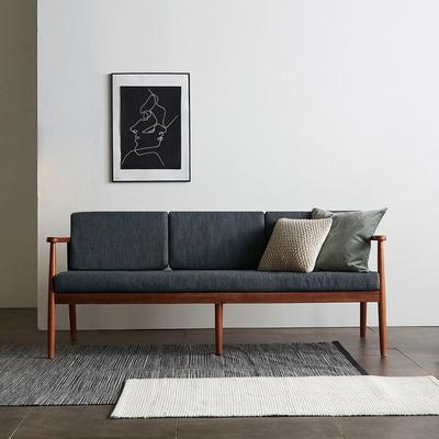 리치 원목 패브릭 3인용 쇼파 의자 (챠콜)