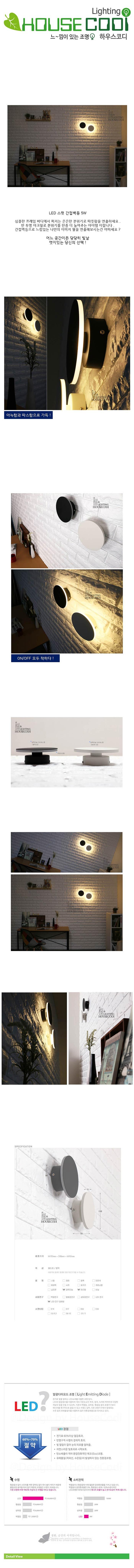 LED 스윗 간접벽등 5W - 하우스코디, 96,300원, 리빙조명, 벽조명