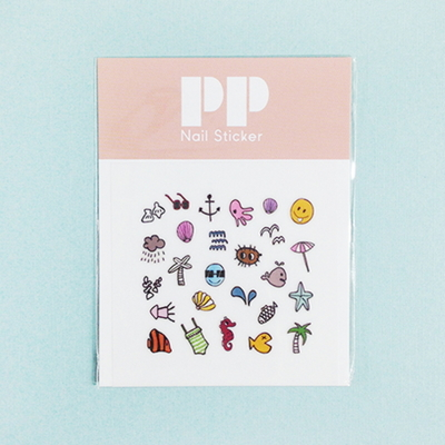 pp nail sticker - sea