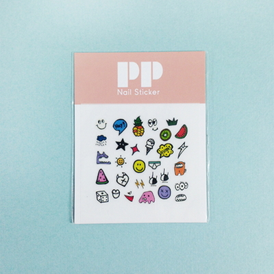 pp nail sticker - monster