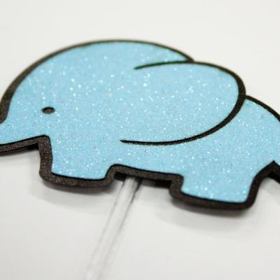 블루 코끼리 케익데코픽 10개묶음