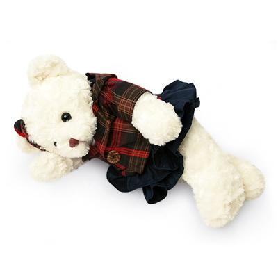신체크후드 테디베어-여자곰(소형-화이트)
