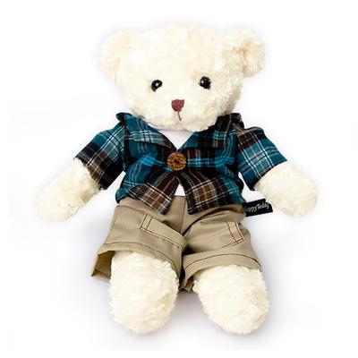 신체크후드 테디베어-남자곰(중형-화이트)
