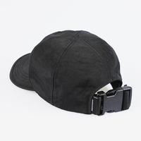 SHIRRING NYLON 6P CAP (BLACK)