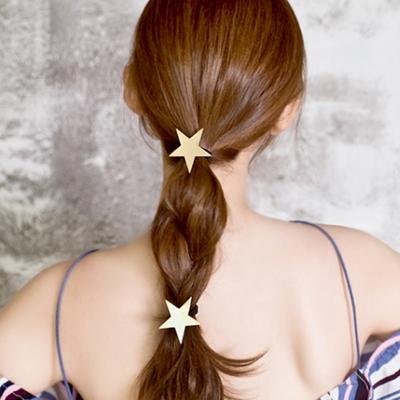 별 메탈 머리끈