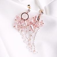 핑크 블로썸 진주 귀걸이 귀찌가능
