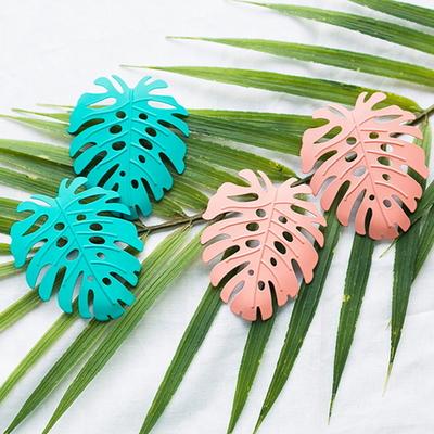 파스텔 나뭇잎 귀걸이
