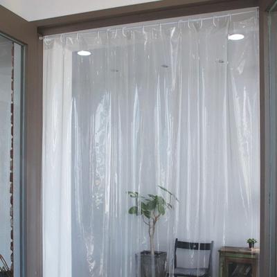 초음파작업 비말차단 방풍방한 투명 비닐커튼L (208x230cm)