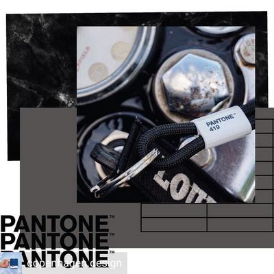 팬톤 키체인S(블랙419)