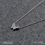 [925실버] 미니큐빅나비 목걸이