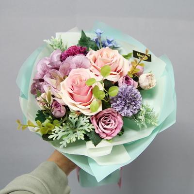민트 조화꽃다발