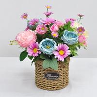 플라워믹스원형-조화 꽃바구니 생일 승진 축하 기념일