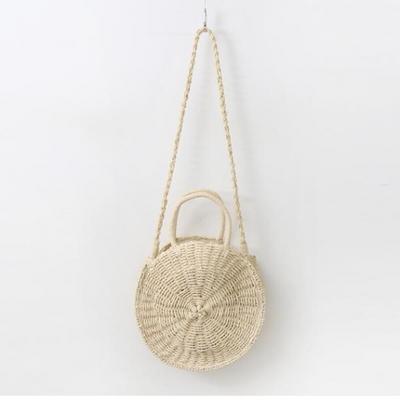 Rattan Circle Shoulder Bag - Large