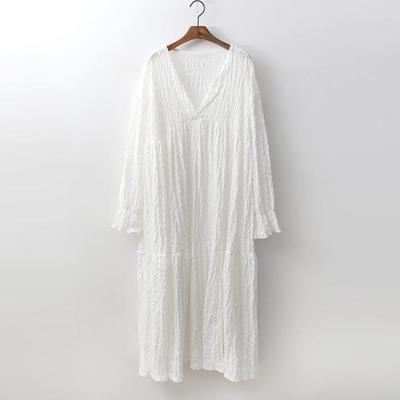 Cancan V-Neck Long Dress
