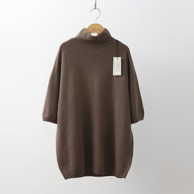 Hoega Cashmere Wool Turtleneck - 반팔