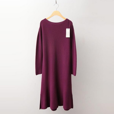 Hoega Cashmere Wool Flare Dress - New