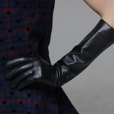 Jackie Long Leather Gloves