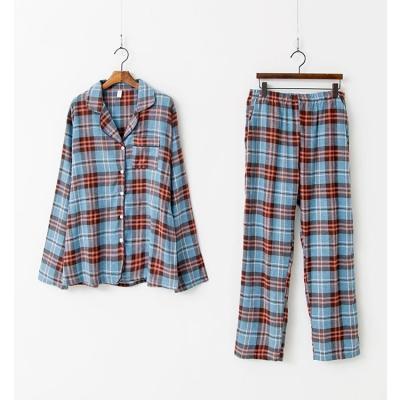 Aria Check Pajamas Set - 커플룩