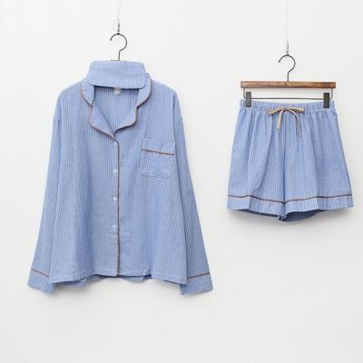 Stripe Pajamas Set - 안대포함