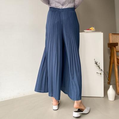 Pleats Nine Wide Pants - 치마바지