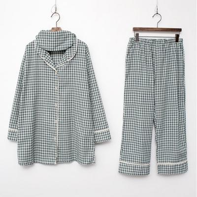 Le Me Check Pajama Set - 안대포함 여성 홈웨어 파자마 잠옷