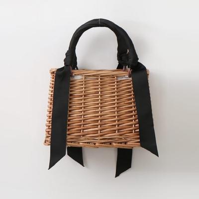 Rattan Ribbon Tote Bag