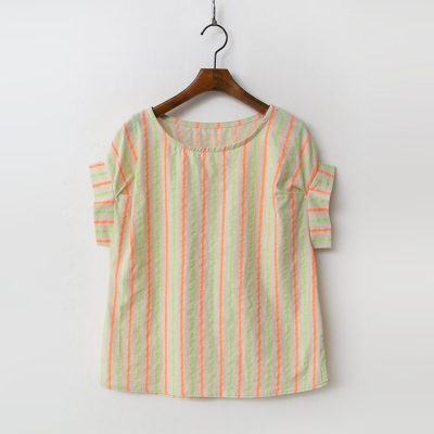 Linen Cotton Neon Blouse