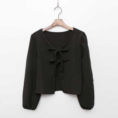 Puff Tie Crop Jacket