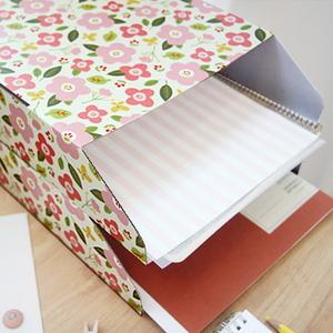 BREEZY WINDY BLOOMING DIY 서류 정리함 4EA 세트