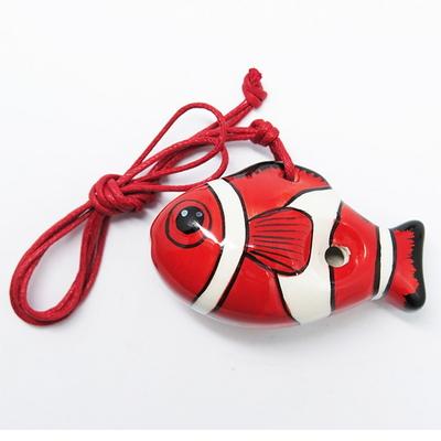 물고기모양 도자기 오카리나_맑은소리