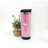 크림-핑크-도트 텀블러